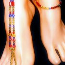 Royal Robin Barefoot Sandal Toe Ring Anklet Set