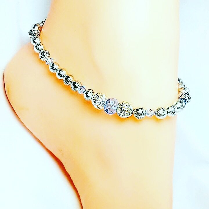 Blue Ice Single Anklet