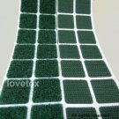 LOVETEX Brand 20mm Green Square Hook and Loop Adhesive-Backed Craft Supplies