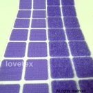 LOVETEX Brand 20mm Violet Square Hook and Loop Adhesive-Backed Craft Supplies