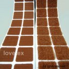 LOVETEX Brand 20mm Brown Square Hook and Loop Adhesive-Backed Craft Supplies