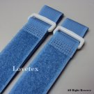LOVETEX Brand 2.5cm x 50cm Med Blue Hook and Loop Cinch Straps 10pcs