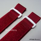 LOVETEX Brand 2.5cm x 50cm Red Hook and Loop Cinch Straps 10pcs