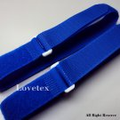 LOVETEX Brand 2.5cm x 50cm Light Royal Blue  Hook and Loop Cinch Straps 10pcs