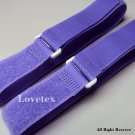 LOVETEX Brand 2.5cm x 95cm Violet Hook and Loop Cinch Straps 10pcs