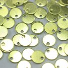 200 Pcs Raw Brass Tiny Round Charms, 6 mm One Hole Coins