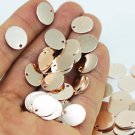25 Pcs 10 mm Rose Gold Plated Brass Coins, Round Stamping Discs