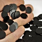 10 Pieces Black Painted Tiny Round Charms, 12 mm One Hole Connectors