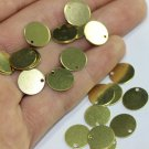 Wholesale - 100 Pcs Raw Brass Tiny Round Charms, 12 mm One Hole Coins