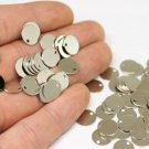 200 Pieces Silver Tone Round Charms, 12 mm One Hole Connectors