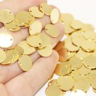 25 Pcs 12 mm Gold Plated Brass Coins, Round Stamping Discs, Stamping Blanks