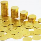 10 Pcs 24K 12 mm Matt Gold Plated Brass Coins, Round Stamping Discs