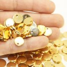10 Pcs 1.2x10mm Gold Plated Disc, Gold Plated Disc, Round Stamping Discs