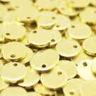 10 Pcs 1.2x10mm Raw Brass Disc, Solid Brass Disc, Industrial - Round Stamping Discs