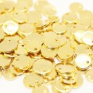 10 Pcs 1.4x12mm Gold Plated Disc, Gold Plated Disc, Round Stamping Discs, Stamping Blanks