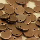 10 Pcs 1.4x14mm Antique Copper Disc - Solid Brass Disc, Round Stamping Discs