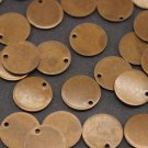 10 Pcs 1.4x16mm Antique Copper Disc, Solid Brass Disc - Round Stamping Discs