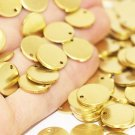 10 Pcs 1.4x16mm Raw Brass Disc - Solid Brass Disc - Round Stamping Discs
