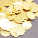 10 Pcs 1.4x16mm Gold Plated Disc, Gold Plated Disc, Round Stamping Discs