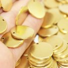 10 Pcs 1.4x18mm Raw Brass Disc - Solid Brass Disc - Round Stamping Discs