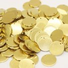 10 Pcs 1.4x20mm Raw Brass Disc - Solid Brass Disc - Round Stamping Discs