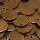 10 Pcs 1.4x20mm Antique Copper Disc - Solid Brass Disc - Round Stamping Discs