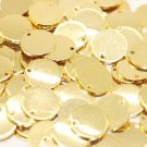 10 Pcs 1.4x20mm Gold Plated Disc, Gold Plated Disc, Round Stamping Discs