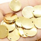 10 Pcs 1.4x25mm Gold Plated Disc, Gold Plated Disc, Round Stamping Discs, Stamping Blanks