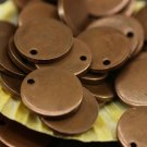 10 Pcs 1.4x25mm Antique Copper Disc, Brass Disc - Round Stamping Discs