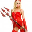 5 Piece Vinyl Devil Costume