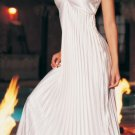 Long Pleated Satin Gown