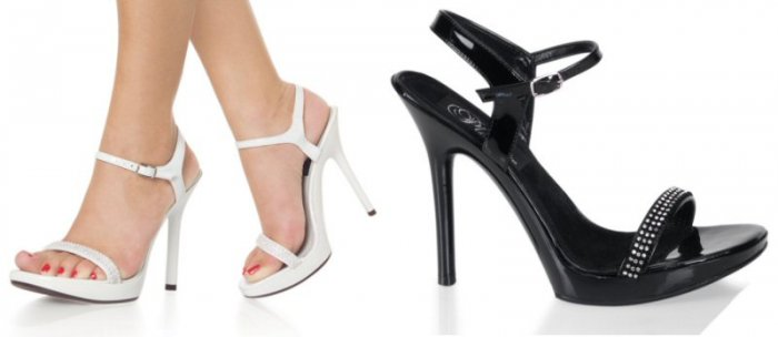 Women's Ankle Strap Sandals with Rhinestone Accents