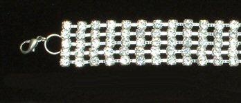 Five Row Rhinestone Belt with Clasp