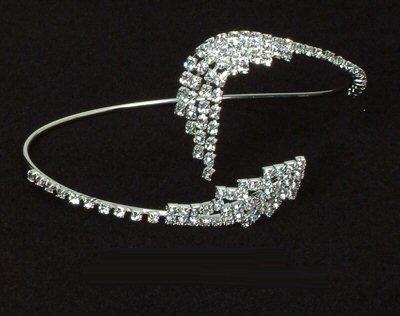 Rhinestone Bangle / Armband with Petal Design