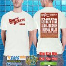 2018 LIVE:BOOTS AND HEARTS MUSIC FEST AUG WHITE TSHIRT W DATES CODE RDF01