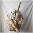 GET AWAY Natural Weave Weekender Shoulder Bag