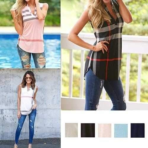 Sleeveless Londonite Top In Playful Plaids
