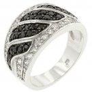 Black & White Swirl Ring