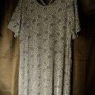 NWOT Carolyn Strauss X Back FLORAL Knit DRESS  1X  New Women's Clothing