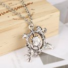 Game of Thrones necklace Antique silver letter logo pendant collar retro design