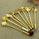 8pc women jewelry Game of Thrones King's Hand/badge/Fish/lion / the sun Makeup/cosmetic brush