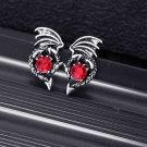 Game of Thrones Dragon Daenerys Drop Earrings With Black Enamel Round Shape Earring Jewelry