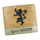 Game of Thrones Cosplay Short Wallet Money Bag Card and Photo Holder Lannister House Lion