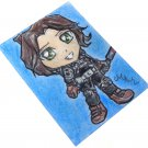 Star Wars Rogue One Jyn Erso Japanese Anime Art Original Sketch Card ACEO PSC by Maia