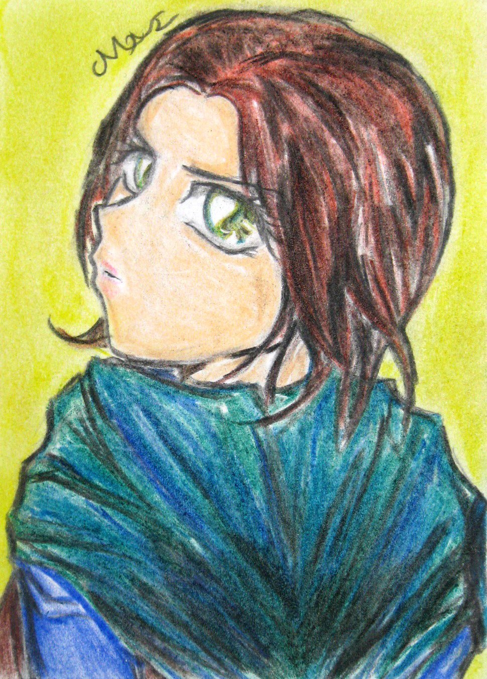 Star Wars Rogue One Jyn Erso Japanese Anime Art Original Sketch Card Drawing ACEO PSC 1/1 by Maia