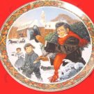 1983 Oh Christmas Tree Royal Windsor plate Jack Woodson Victorian scene 2nd edition, box