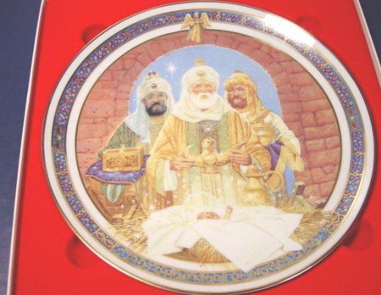 1989 We Three Kings Royal Windsor Christmas plate 8th edition Jack Woodson, box