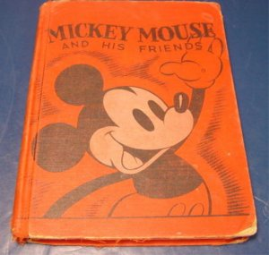 Mickey Mouse and His Friends 1937 book Walt Disney Jean Ayer  Disneyana W.D. Ent.
