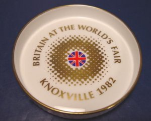 Great Britain at World's Fair 1982 Knoxville TN. Tennessee Royal Doulton England china dish plate