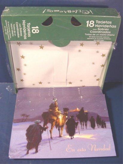Spanish Christmas greeting cards Holiday wise men En Esta Navidad 18 boxed Paper Magic Group